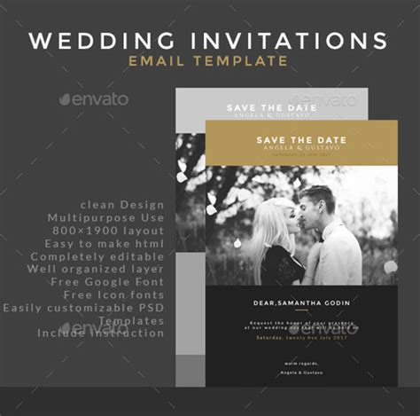 17 Email Invitation Template Free Sle Exle Format Download Free Premium Templates Free Email Wedding Invitation Templates