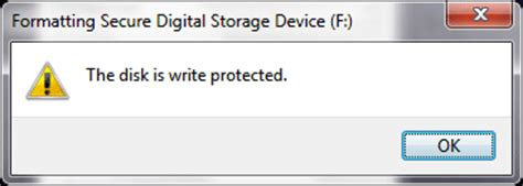 format cd write protected the disk is write protected error while formatting sd