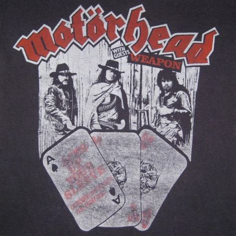Kaos Band Motorhead Merchendise Official 01 vtg motorhead 1980 aces up your sleeve tour t shirt original concert 80s sleeve