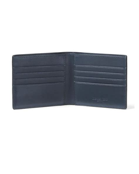 Canvas Printed Wallet michael kors camo printed canvas billfold wallet in blue