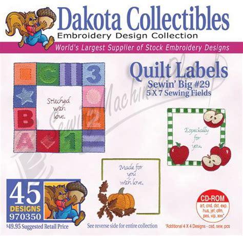 Machine Embroidery Quilt Labels Free dakota collectibles quilt labels embroidery designs 970350 ebay