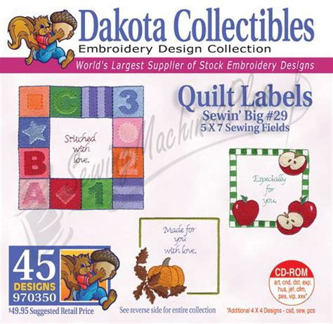 dakota collectibles quilt labels embroidery designs 970350