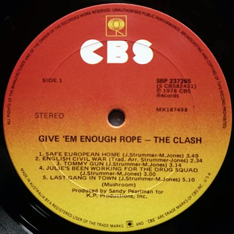 Clash Give Em Enough Rope Cd clash the the clash give em enough rope 12 inch lp vinyl records