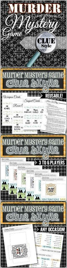 template murder mystery card printable cards for pictionary charades