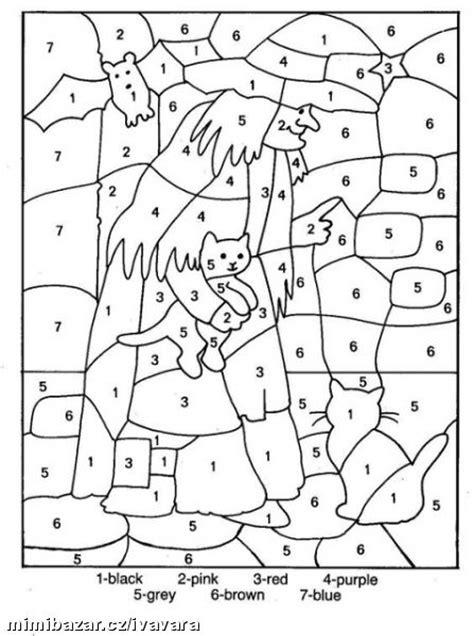 coloring pages in numbers den čarodějnic pracovn 205 listy omalov 193 nky omalov 225 nky