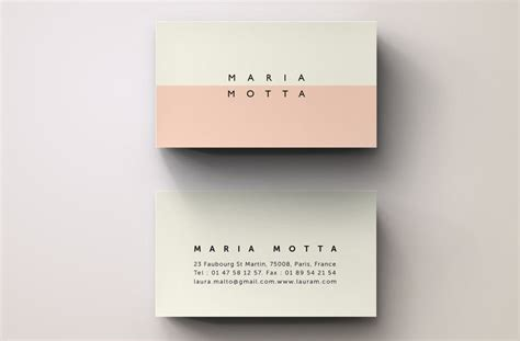 pink modern business card template business card