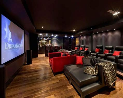 home cinema decor uk red and black home theater luxury forthehome house