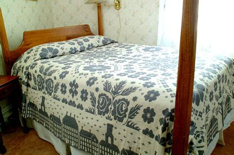 Primitive Bedding Coverlets primitive houses jacquard coverlet by michaelian home bedding decor