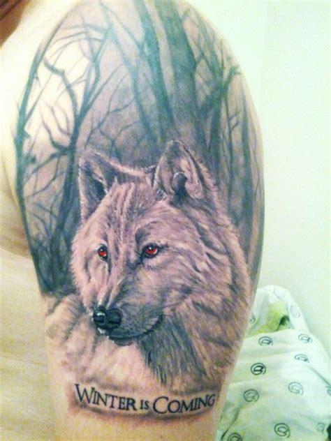 dire wolf tattoo house stark tattoos