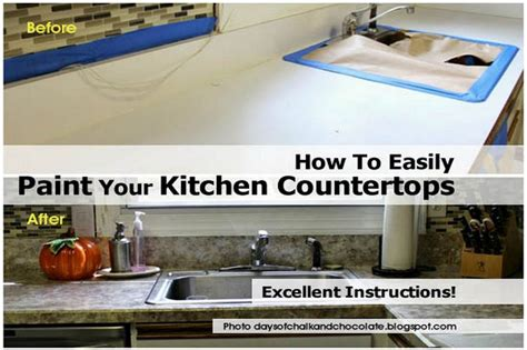 how to easily paint your kitchen countertops