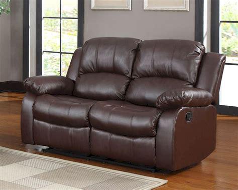 homelegance double reclining sofa homelegance double reclining loveseat cranley in brown el