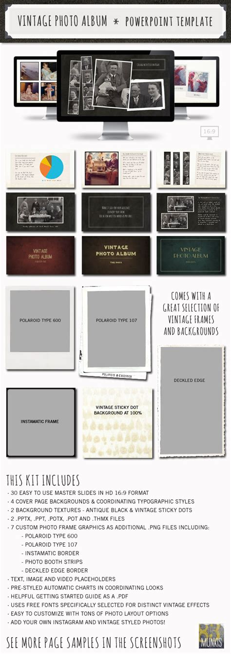 Discover Vintage Photo Album Powerpoint Template Infographicnow Com Your Number One Source Photo Album Powerpoint Template