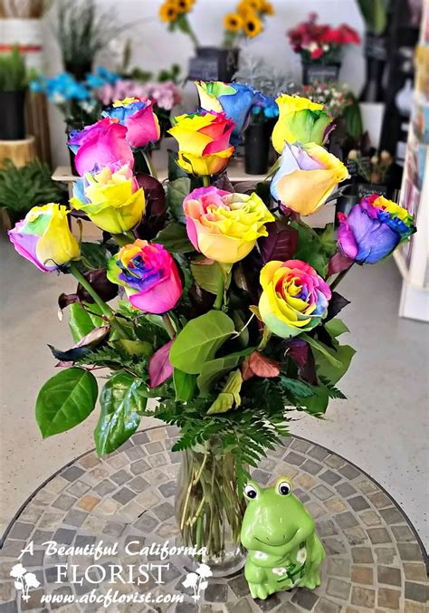 rainbow colored roses amazing rainbow roses one dozen multi colored real