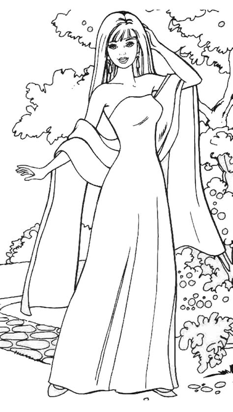 barbie model coloring pages coloring blank models fashion coloring pages
