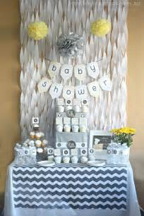Nautical Themed Dining Room - gray amp yellow baby shower decorating ideas love of