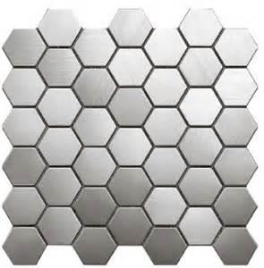 New Tiles Design For Kitchen Free Shipping Hexagon Metal Mosaics Stainless Steel Tile