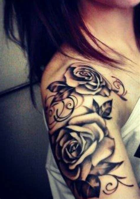 rose tattoo on shoulder and arm tats a collection of ideas to try about hair and beauty