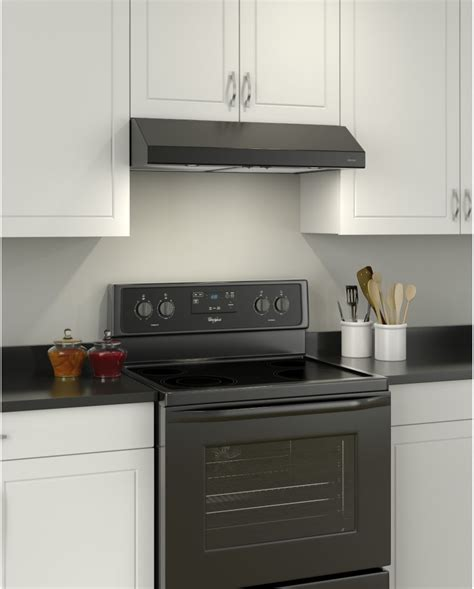 30 inch under cabinet range hood black broan bcsd130bl 30 inch under cabinet range hood with