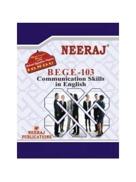 Ignou Mba Guide Books by Ignou Bege 103 Communication Skills In