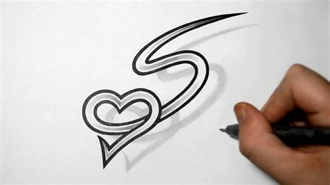 heart letter tattoo designs letter s and combined design ideas for