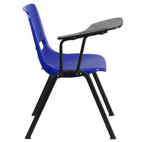 Flip Chair by Ergonomic Shell Chair With Right Handed Flip Up Tablet Arm Office Furniture Warehouse