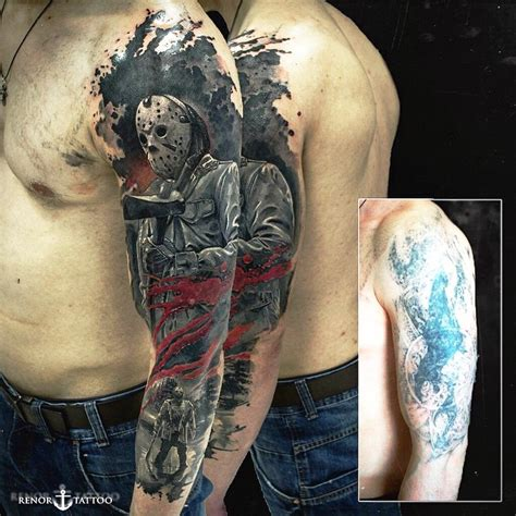 jason tattoo designs shoulder jason sleeve best ideas gallery