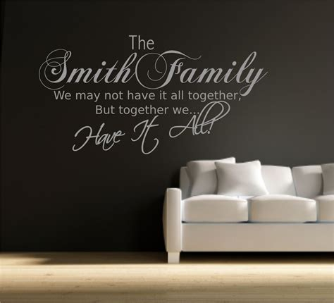Wall Phrases Stickers personalised family name wall art quote phrase sticker
