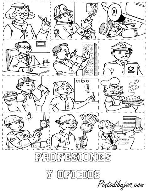imagenes para colorear oficios y profesiones pinto dibujos oficios y profesiones para colorear 1 de