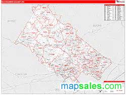 montgomery county zip code map montgomery county pa zip code wall map by marketmaps from