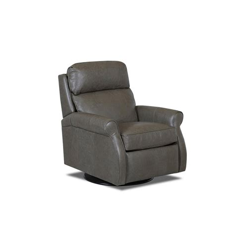 leather reclining swivel chairs comfort design clp727 shlrc leslie ii leather reclining