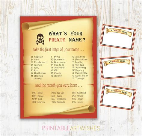 printable pirate name tags best 25 pirate names ideas on pinterest pirate party