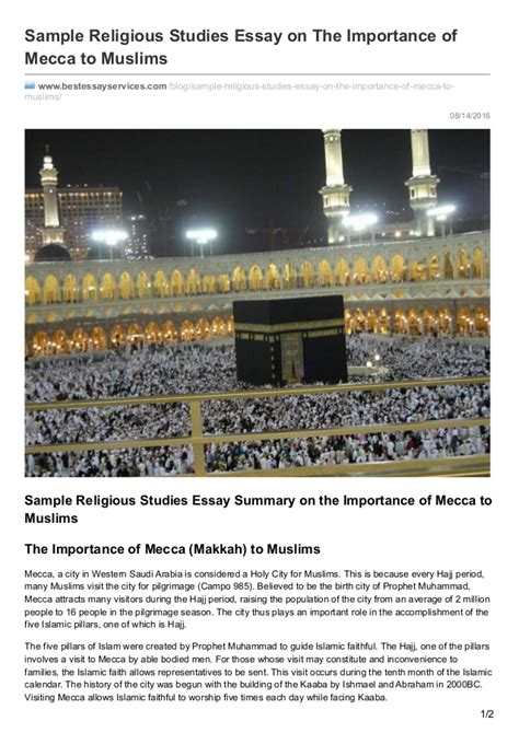 Importance Of Religion Essay by Bestessayservices Sle Religious Studies Essay On The Importan
