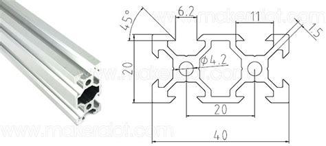 V Slot Aluminium Profile Extrusion Rail 2020 Black Ox Cnc Frame 100cm 1 2040 v slot extruded aluminum 1 meter 20mm x 40mm ae16004 6 80 makeralot maker tools and