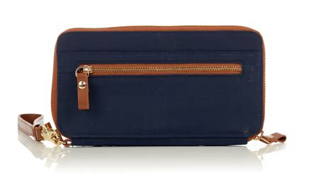 Ribbon Wallet Navy continental wristlet wallet navy daveys