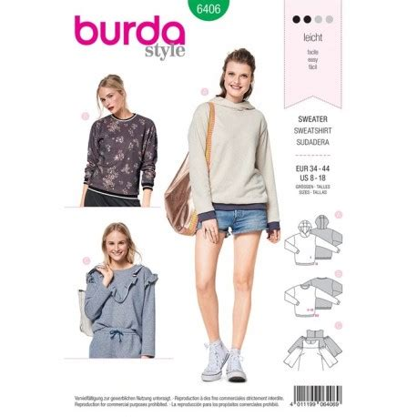 sweatshirt pattern burda burda style young women sweatshirt sewing patterns burda