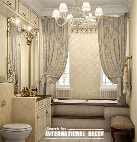 Design For Designer Shower Curtain Ideas How To Design Luxury Bathroom In Classic Style