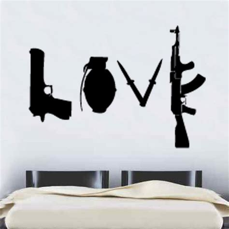 banksy wall stickers banksy weapons wall sticker graffitti 60cm x 86cm ebay