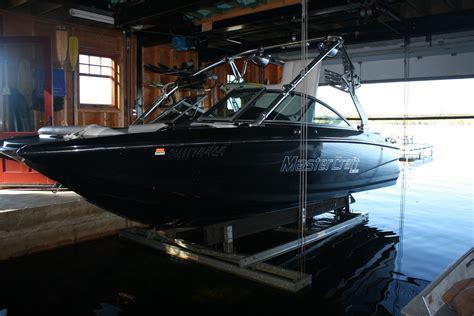 wakeboard boat lift wet slip boat lifts overhead boat lift systems r j