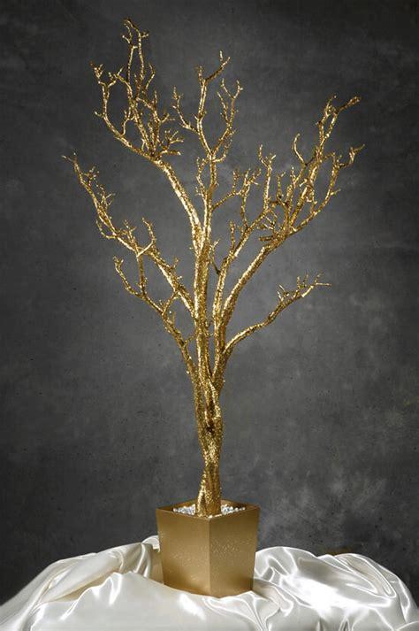 gold artificial tree potted gold manzanita artificial tree 4