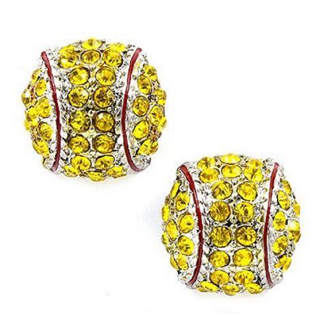 softball stud earrings