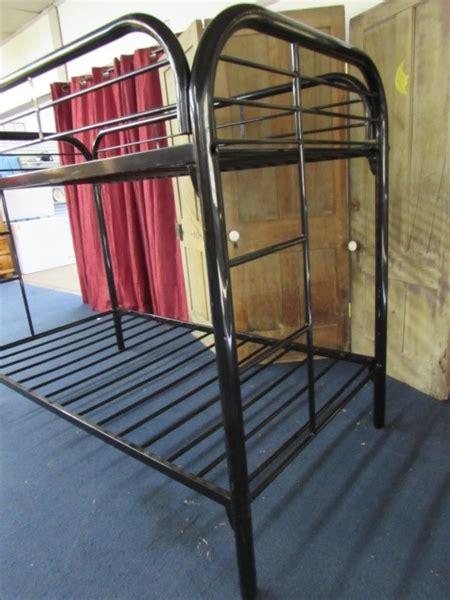 Tubular Bunk Bed Lot Detail Black Metal Tubular Bunk Bed Frame