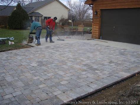 Interlocking Pavers Interlocking Concrete Paver Driveway Installing Patio Pavers On Sand