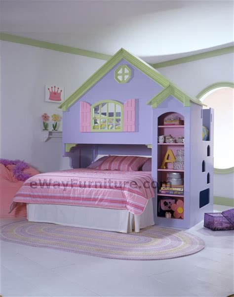 doll house loft bunk bed girls dollhouse bunk bed