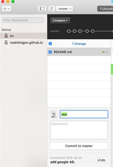 github desktop tutorial mac git quot revert this commit quot quot roll back to this commit quot on