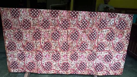 Kain Batik Murah Batik Sogan Tolet Handprint 1 seragam batik pramugari air dengan katun berkualitas