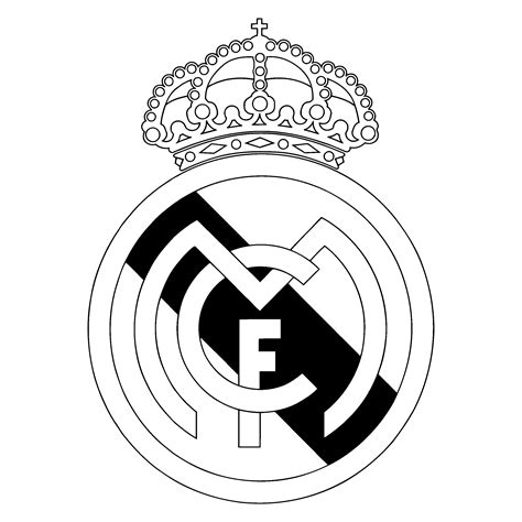 logo black and white madrid cf logo black and white