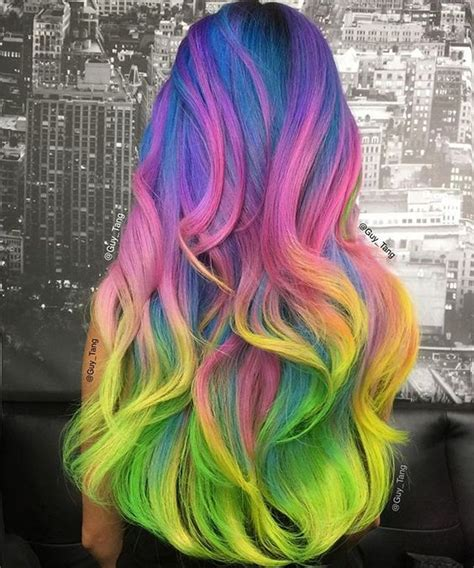 different colored hair rainbow hairstyles the haircut web