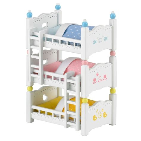 triple bunk bed uk sylvanian families triple bunk bed set sylvanian families uk