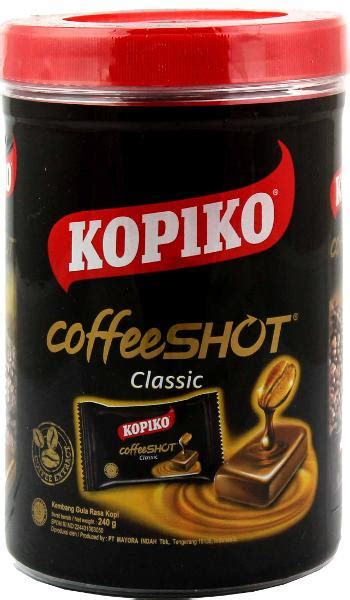 Kopiko Coffeeshot Classic 150g kopiko coffee jar 240gr