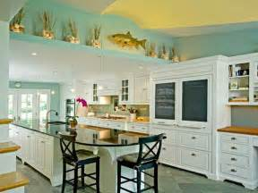 awesome Beach Cottage Kitchen Decor #2: Coastal-Paint-Colors-Interior-with-Traditional-Kitchen.jpg